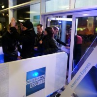 American Express entrance at Depeche Mode concert in Arena Riga